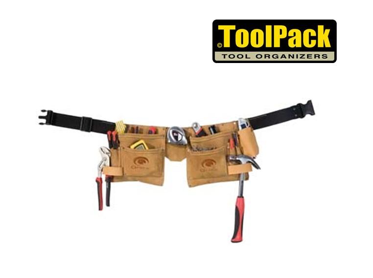 Toolpack Dubbele buidel gereedschapsriem 230x230mm