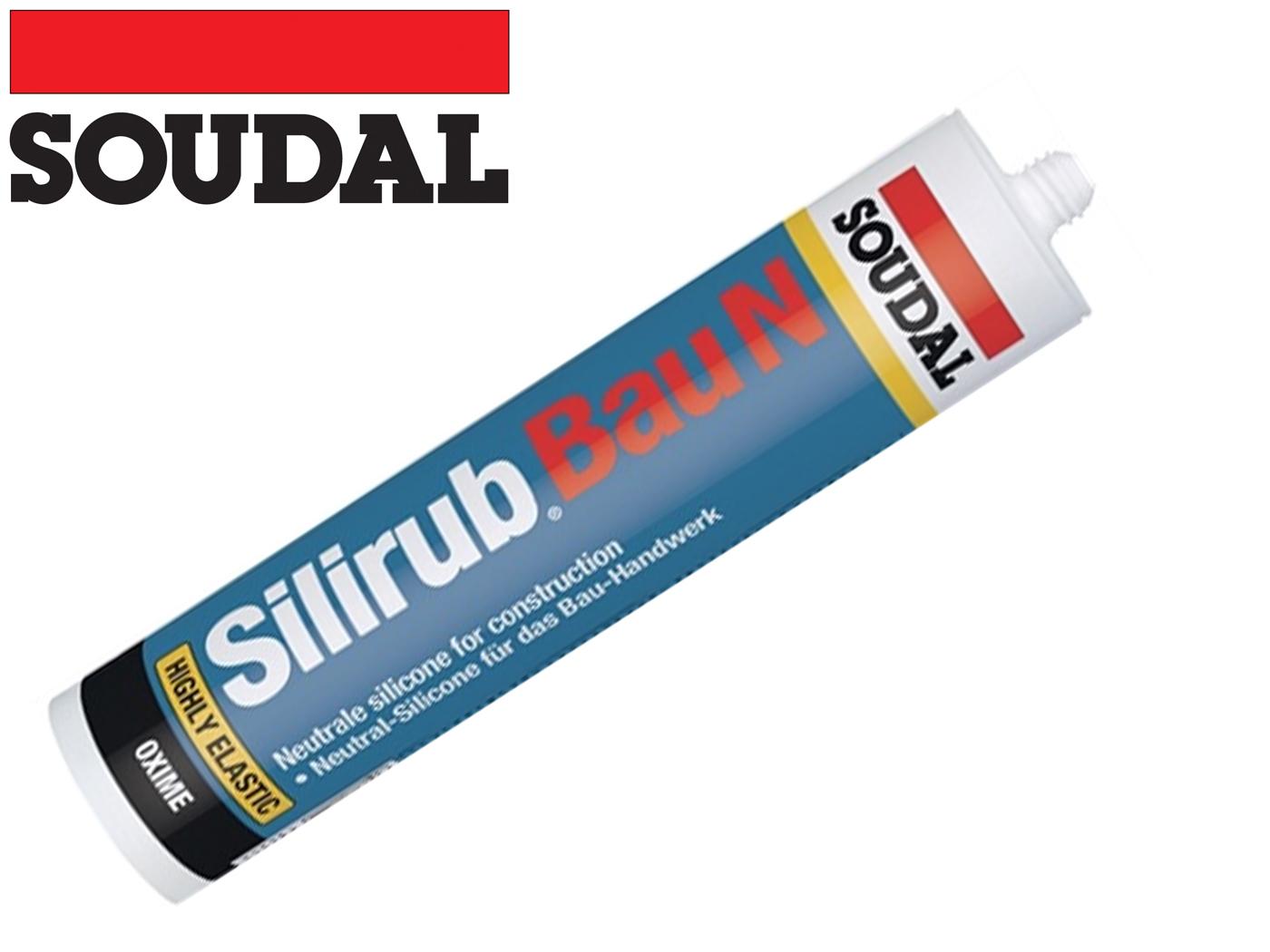 Siliconenkit Silirub constructie N wit 310 ml patroon SOUDAL