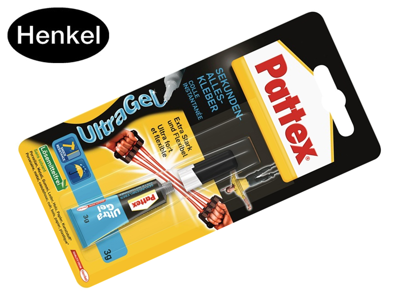 Henkel Superglue Ultra Gel 3g kleurloze buis PATTEX