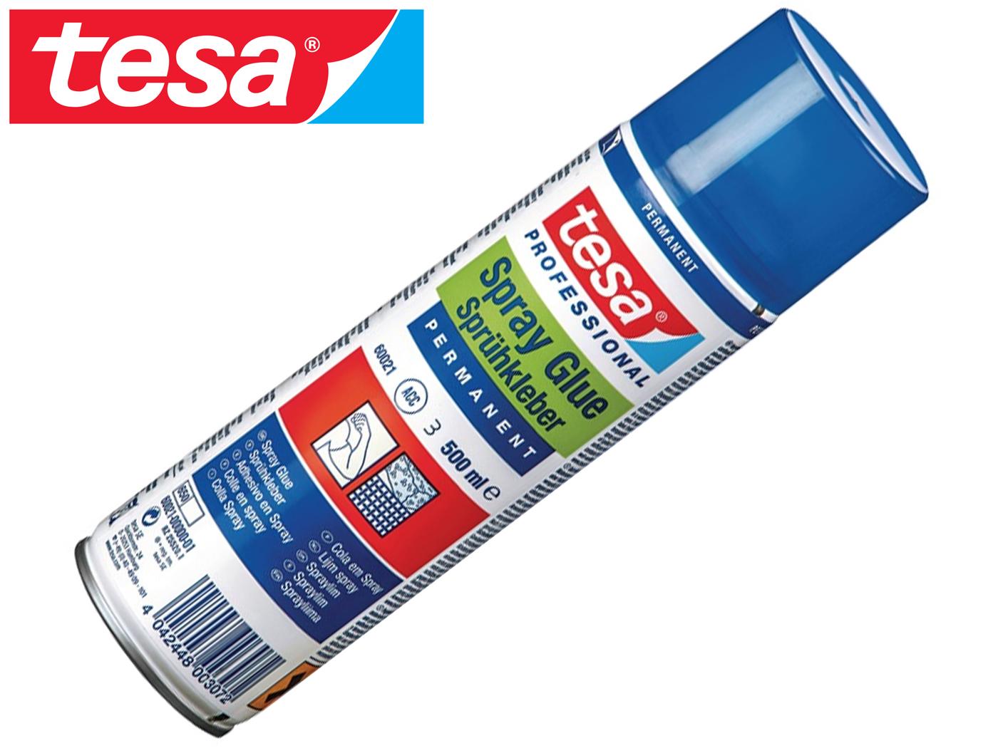 Spuitlijm permanent 60021 beige spuitbus 500 ml TESA