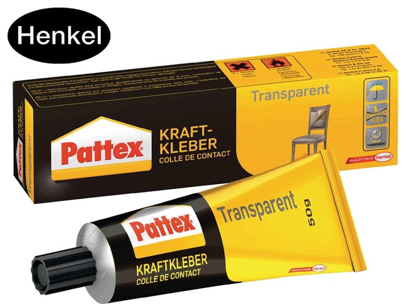 Krachtlijm transparant -40 Grad bis +70 Grad 50g PATTEX
