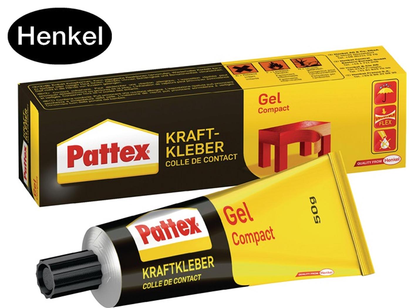 Krachtlijm Compact Gel -40GradC b. + 70GradC 50g Tube PATTEX