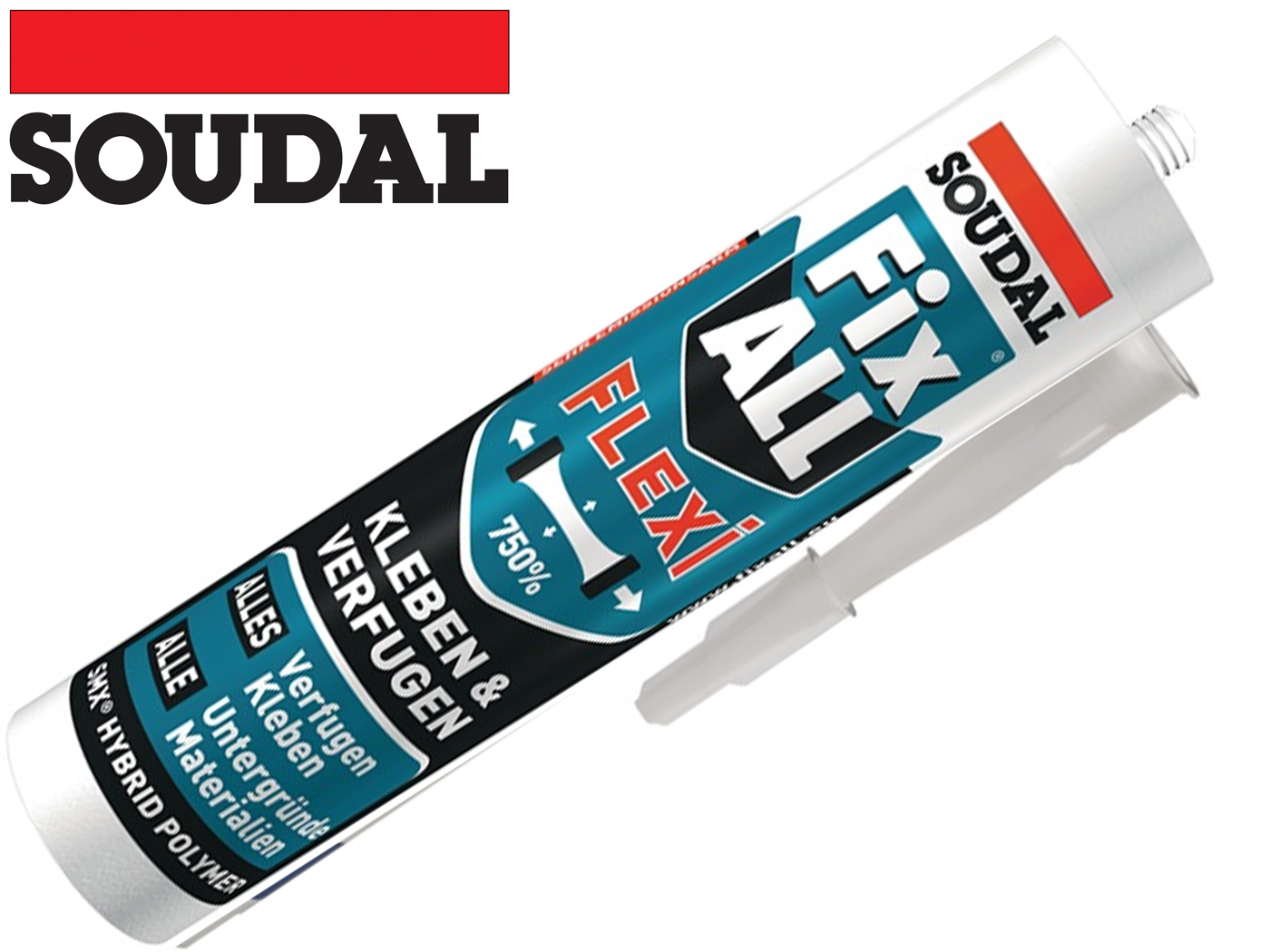 1K lijm / afdichtmiddel Fix alle Flexi 470g witte cartridge SOUDAL