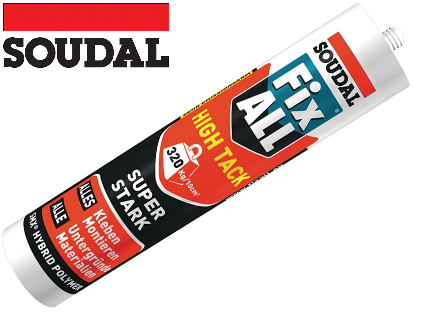 1K hybride polymeer Fix Alle HT 420g witte cartridge SOUDAL
