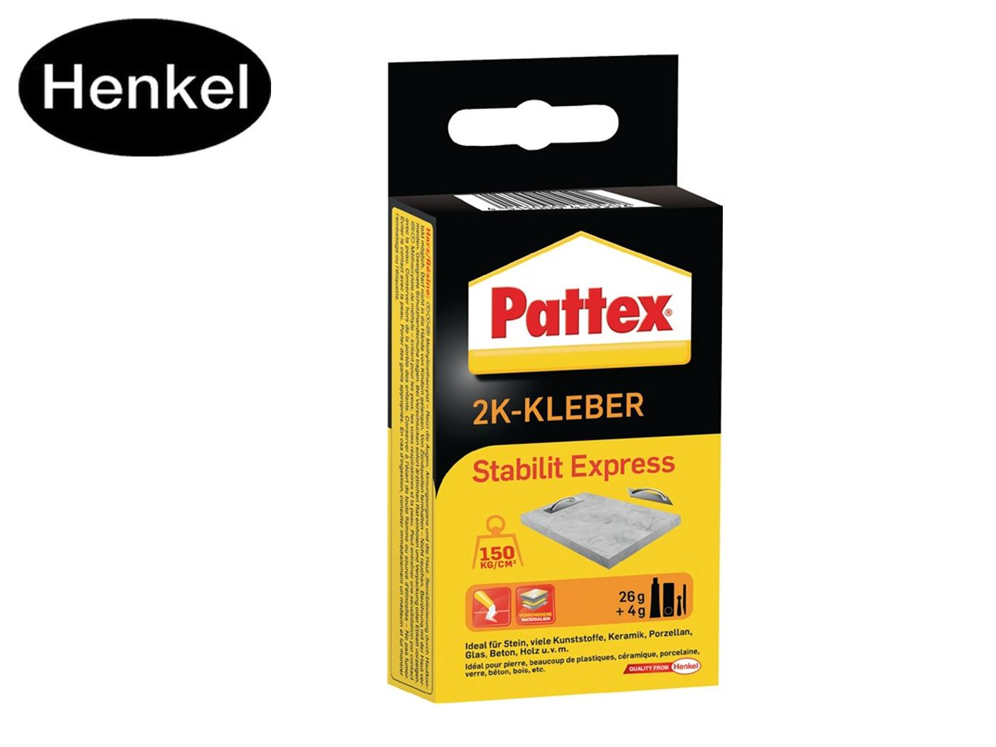 2-componenten acrylkleefstof Stabilit Express 30g bruine buis PATTEX