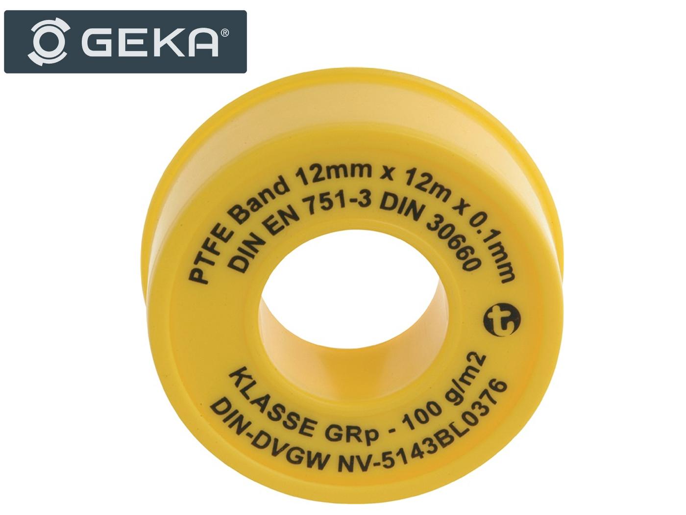 PTFE-afdichtingsband GRP L12m B12mm D0,1mm 100g / m² Rl.GEKA