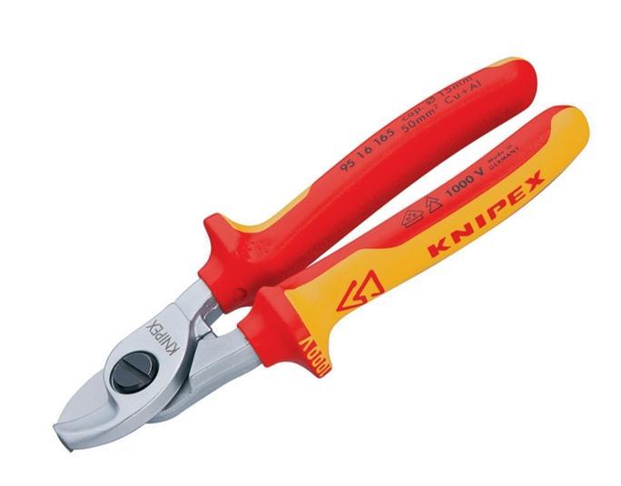 Knipex VDE kabelschaar 165 mm tot 50mm2 Knipex 95 16 165