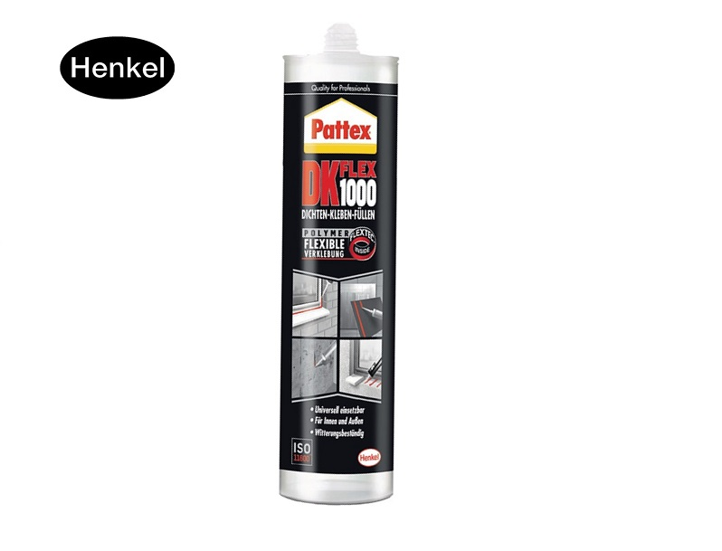 Bevestigingslijm DK FLEX 1000 witte 390g cartridge PATTEX