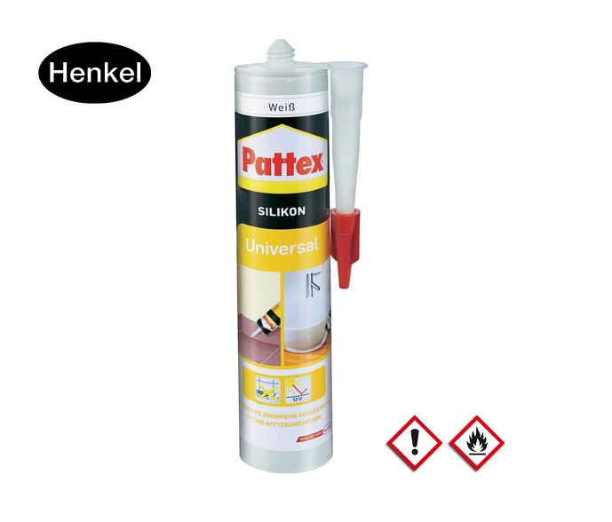 Pattex UNIVERSAL Siliconen Kleur Transparent 300ml -30 tot 120 graden bin