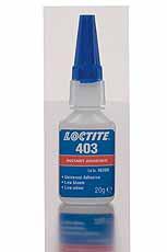Loctite 403 Snellijm - Lage blooming, geringe geur, gemiddelde viscositei
