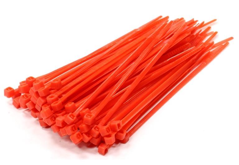 Kabelbinders, 2,5x100mm Rood RAL3000 SapiSelco SEL.10.202R