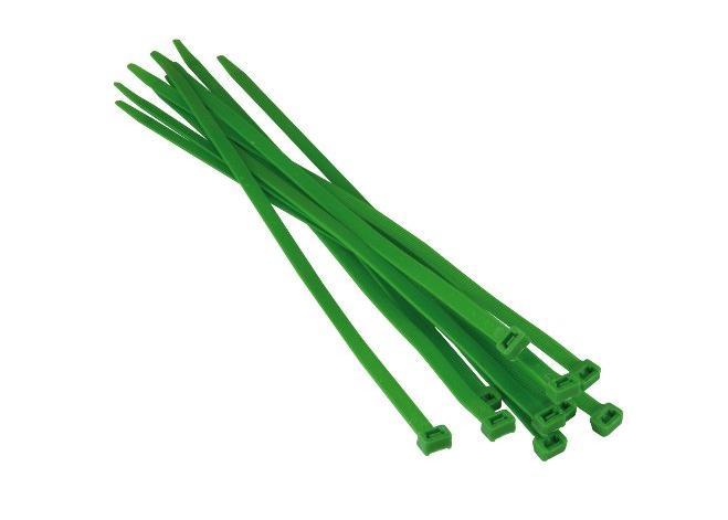 Kabelbinders, 2,5x100mm Groen RAL602 SapiSelco SEL.12.202R