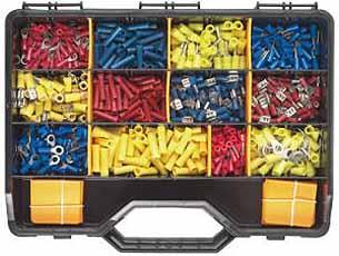 Kabelschoenen assortiment 0,5 tot 6 mm ² 12x50 stuks in koffer