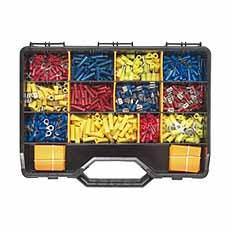 Kabelschoenen assortiment 0,5 tot 16 mm ² set 2200 stuks in koffer