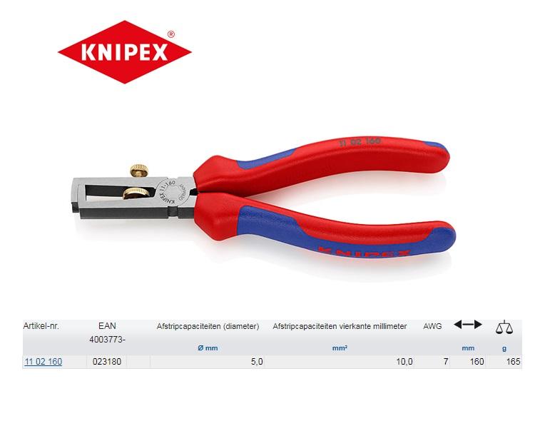 Knipex 1102160 striptang met veer 160mm