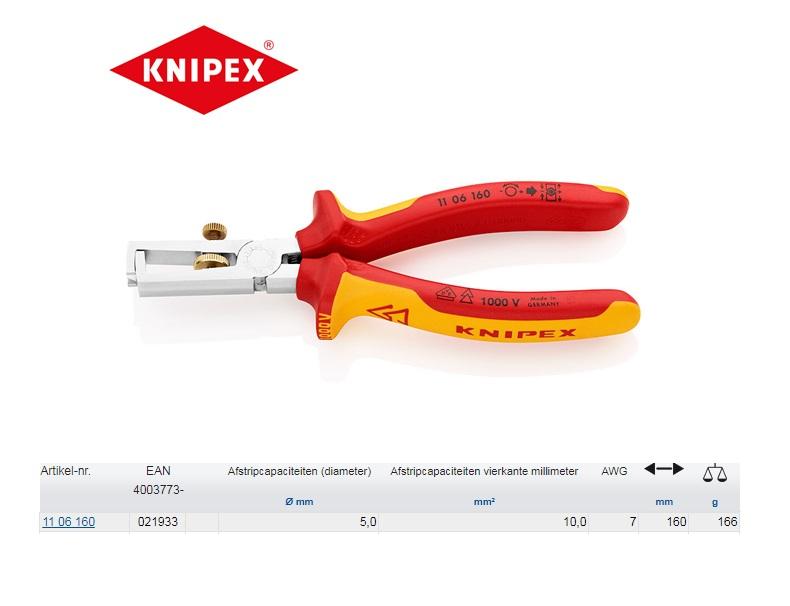 Knipex VDE-afstriptang 160mm 11 06 160