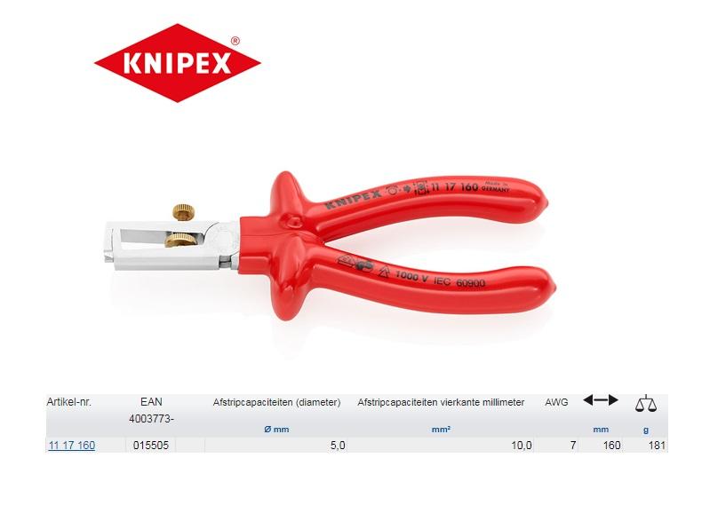 Knipex VDE-afstriptang 160mm 11 17 160