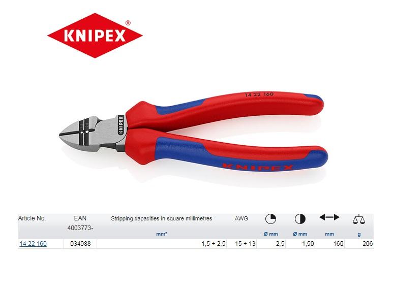Knipex afstrip-zijsnijtang 160 mm 14 22 160