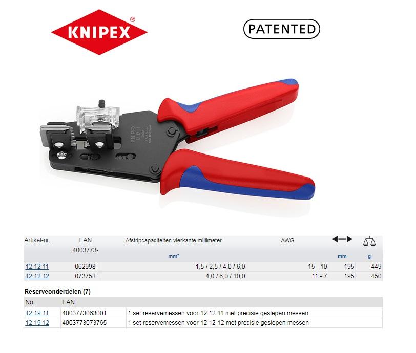 Knipex Precisie afstriptangen Radox 1,5-6 mm2