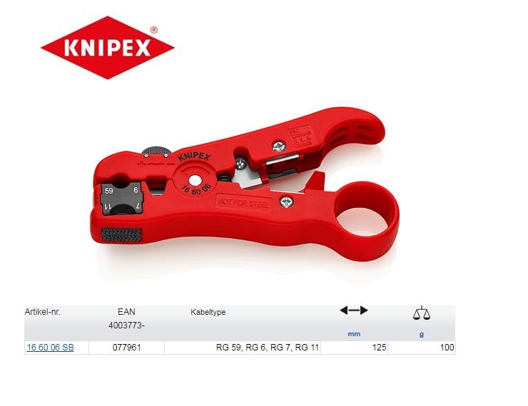 Knipex Afstripgereedschap voor coax-kabel
