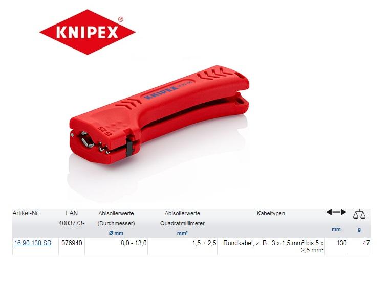 """Knipex Universeel ontmantelingsgereedschap Ø 8 - 13 mm 5/16"""" - 1/2"""""""