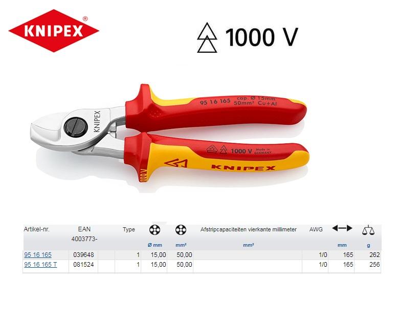 KNIPEX Kabelschaar 165 mm 95 16 165