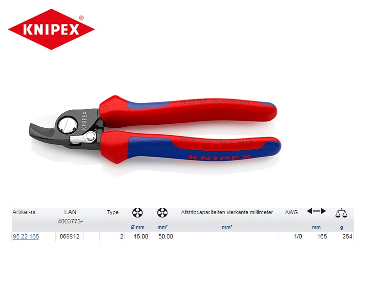KNIPEX Kabelschaar 165 mm 95 22 165