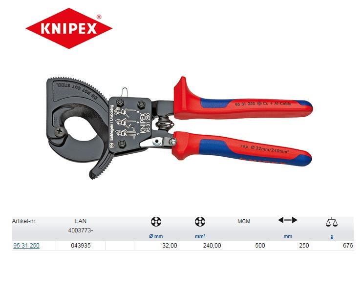 Knipex kabelschaar met ratel 250 mm 95 31 250