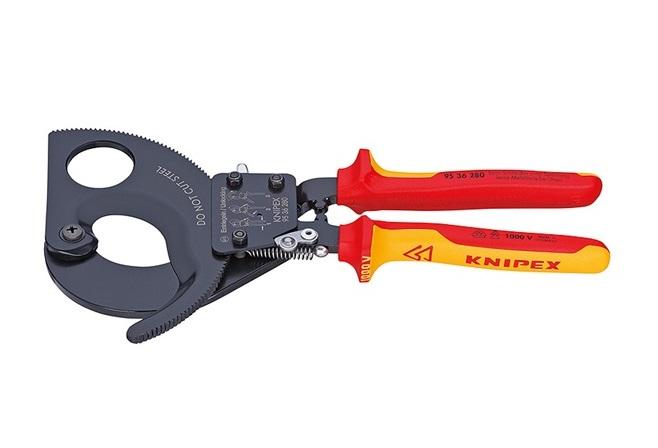 Knipex VDE kabelschaar met ratel 280 mm 95 36 280