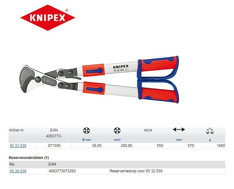 Knipex kabelschaar met ratel 95 32 038