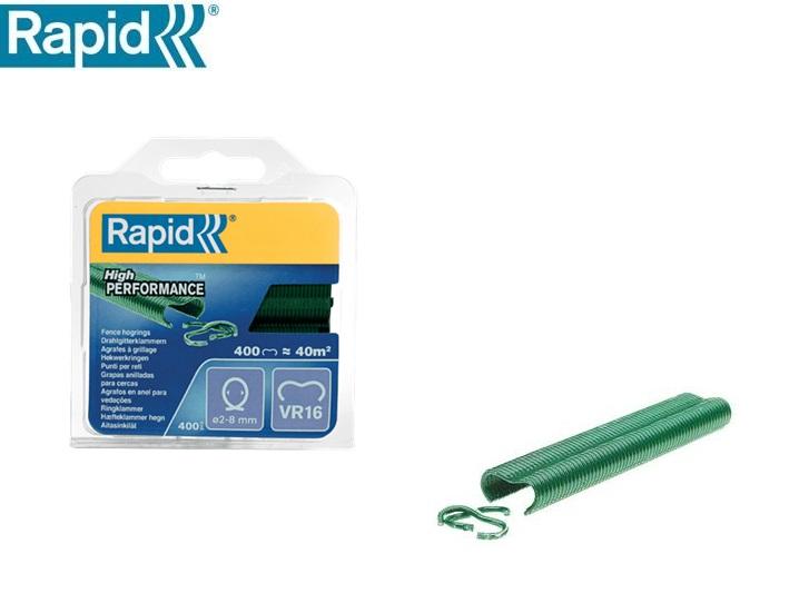 Rapid hogring VR16 groen gecoat 2-8 mm (400 stuks)