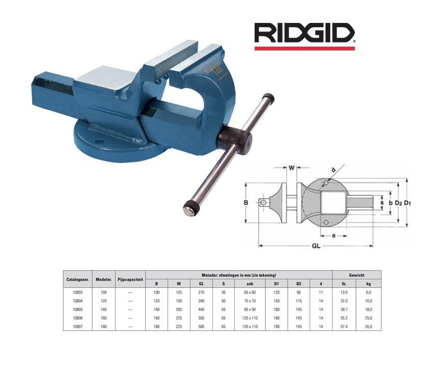 RIDGID Bankschroef Matador 100 mm 10803