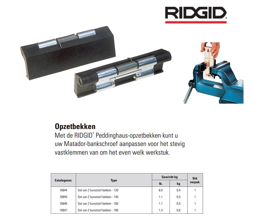 Opzetklauw kunststof Matador 120mm RIDGID 10844