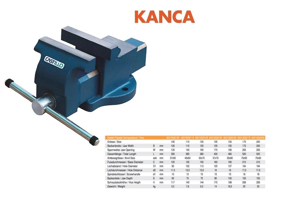 Kanca Bankschroef 125 mm