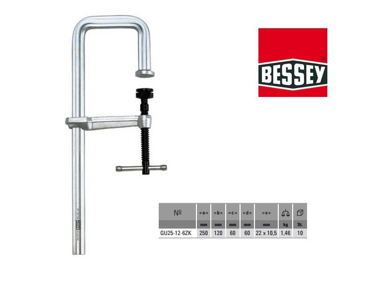 Bessey Geheel stalen lijmklem U-vorm 250x120mm