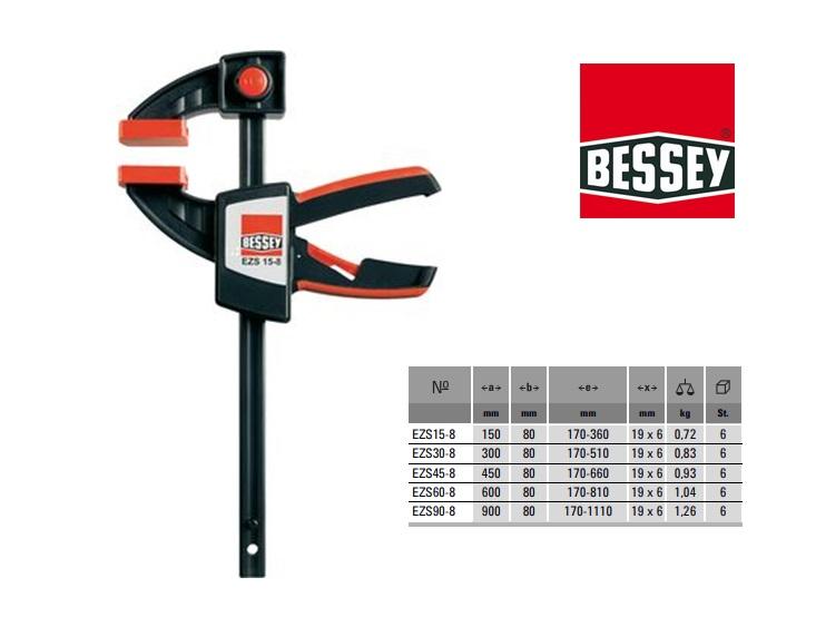 Bessy Eenhandklem 150x80mm EZS