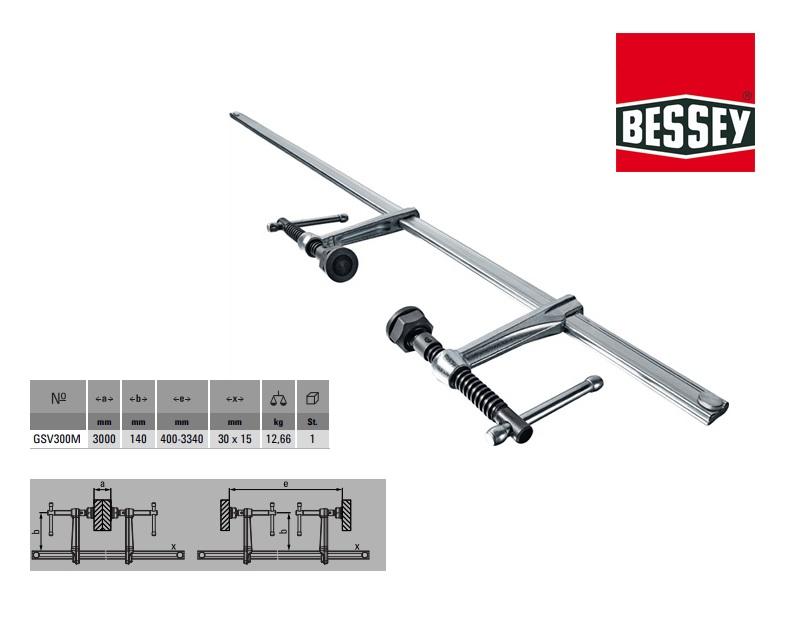 Bessey Variabele constructielijmtang set 3000x140mm