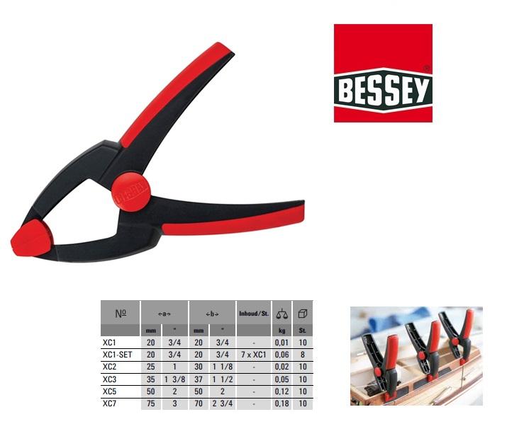 Bessey XC2 Veerklem Clippix 25x 30mm