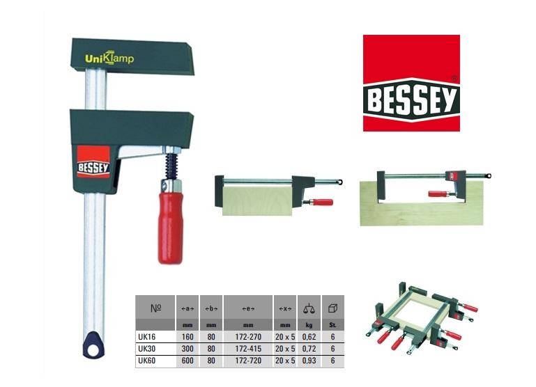 Bessey corpuslijmtang UniKlamp 600x80mm