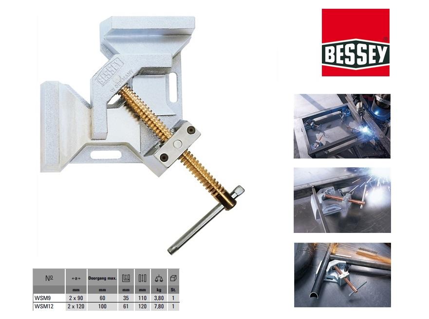 Bessey Metalen hoekspanner 2x90x110mm