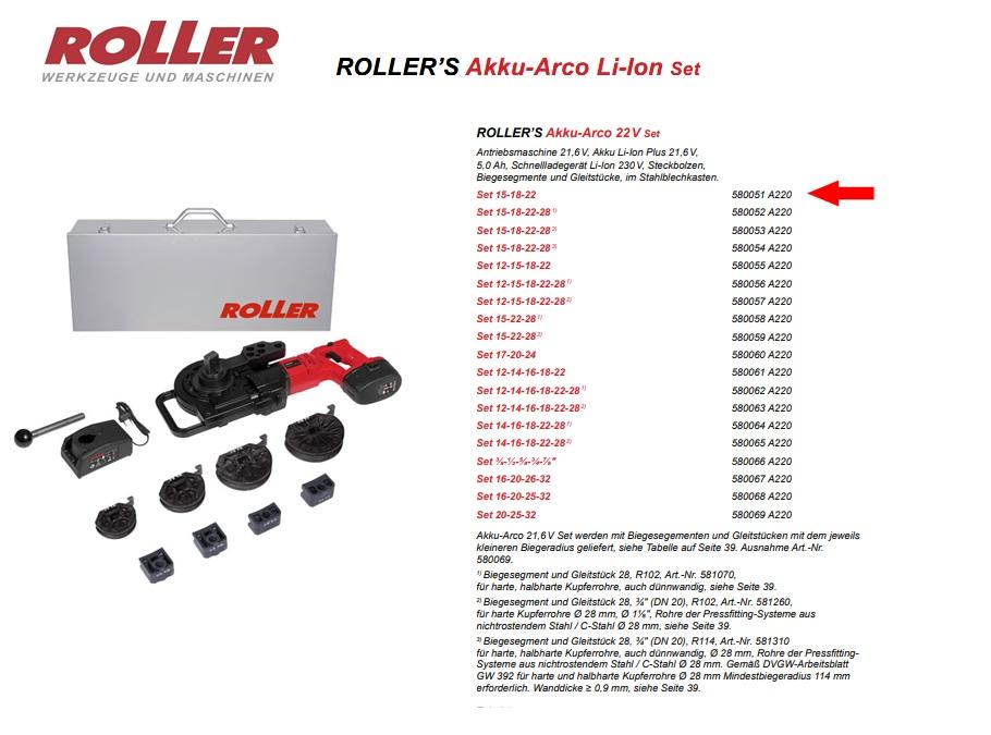 ROLLER`S Akku-Arco 22V Set 15-18-22