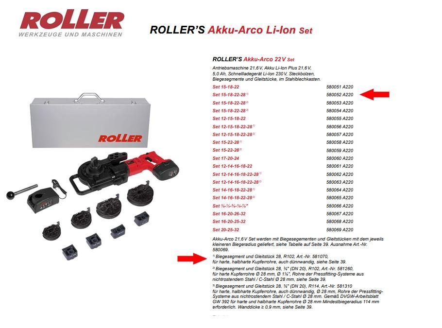 ROLLER`S Akku-Arco 22V Set 15-18-22-28 (1)