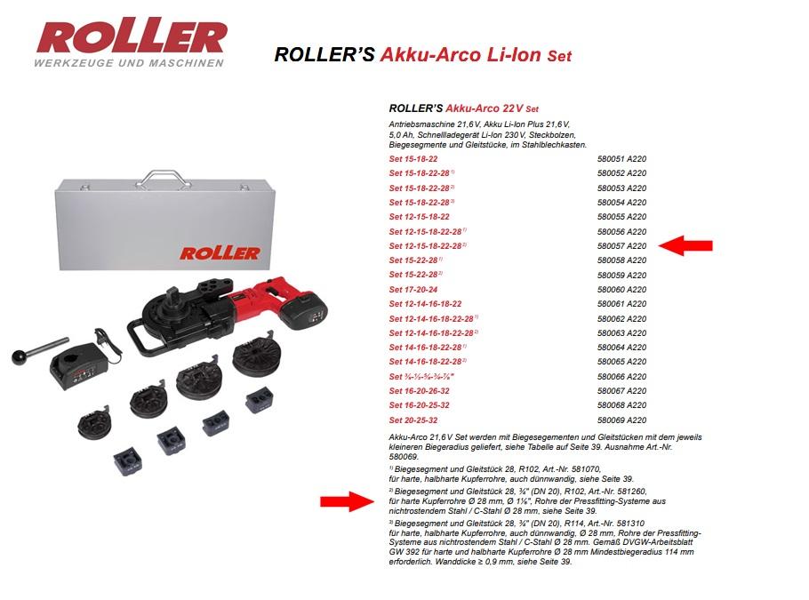 ROLLER`S Akku-Arco 22V Set 12-15-18-22-28 (2)