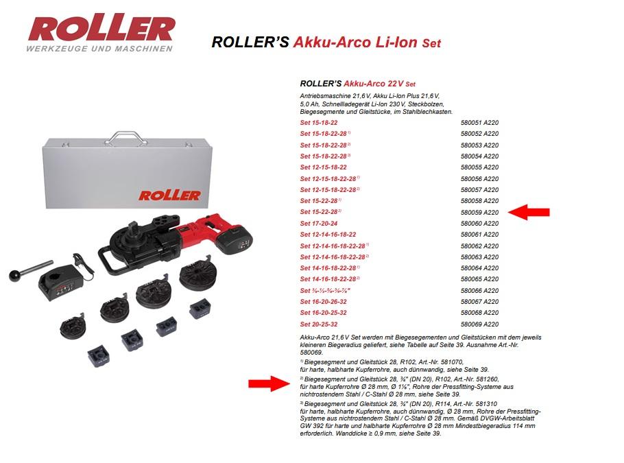 ROLLER`S Akku-Arco 22V Set 15-22-28 (2)