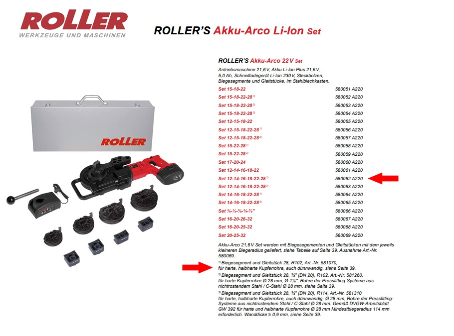 ROLLER`S Akku-Arco 22V Set 12 - 28 (1)