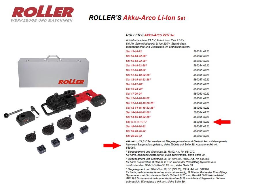 ROLLER`S Akku-Arco 22V Set 3/8 - 7/8