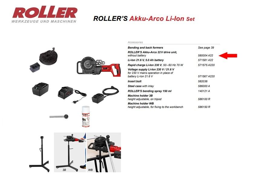 ROLLER`S Akku-Arco 22V aandrijf machine