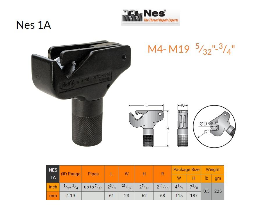 Buiten schroefdraad herstelgereedschap 4-18mm NES 1A