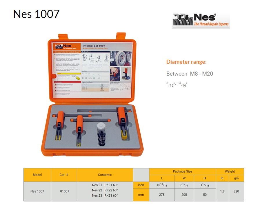 Reparatieset Binnen schroefdraad herstelgereedschap 8-20mm NES 1007