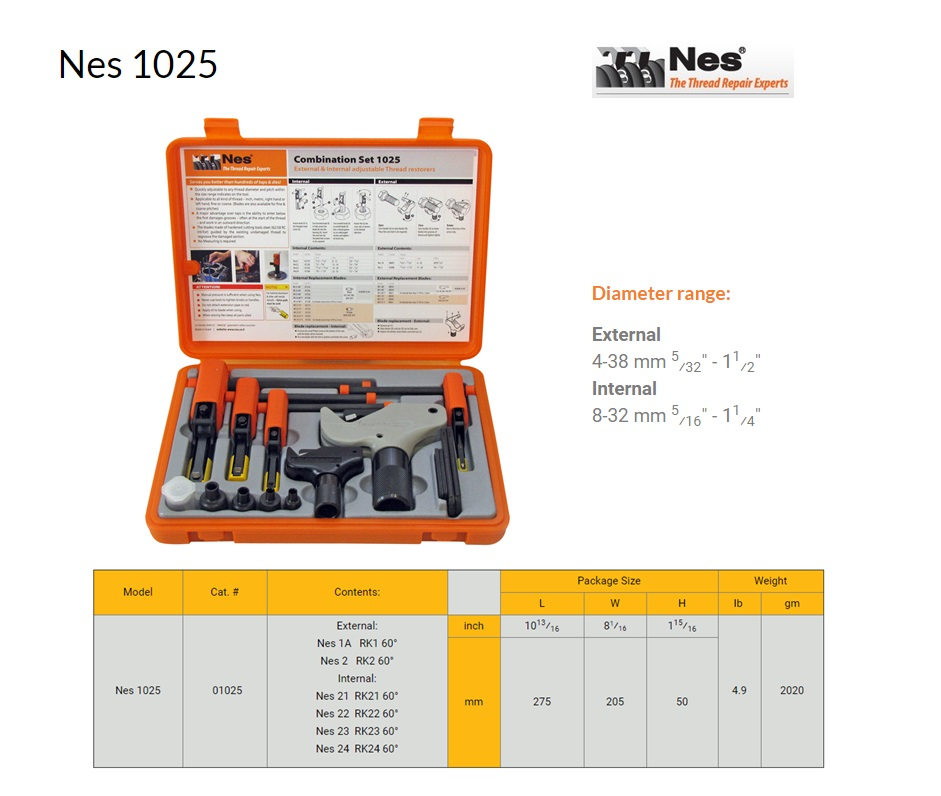 Reparatieset Combinatie inw.8-32mm/uitw.4-38mm NES 1025
